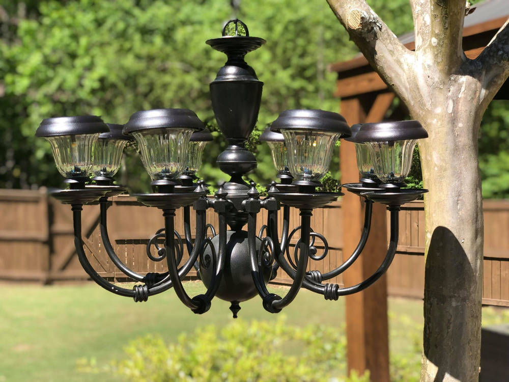 solar chandelier for gazebo