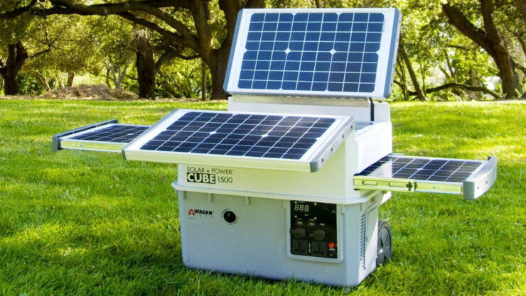 portable solar power generator