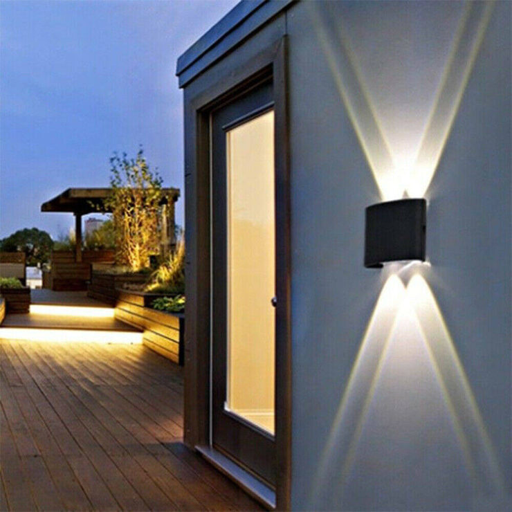 solar led wall light