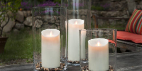 solar powered outdoor candles