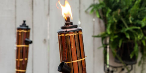 solar tiki torches