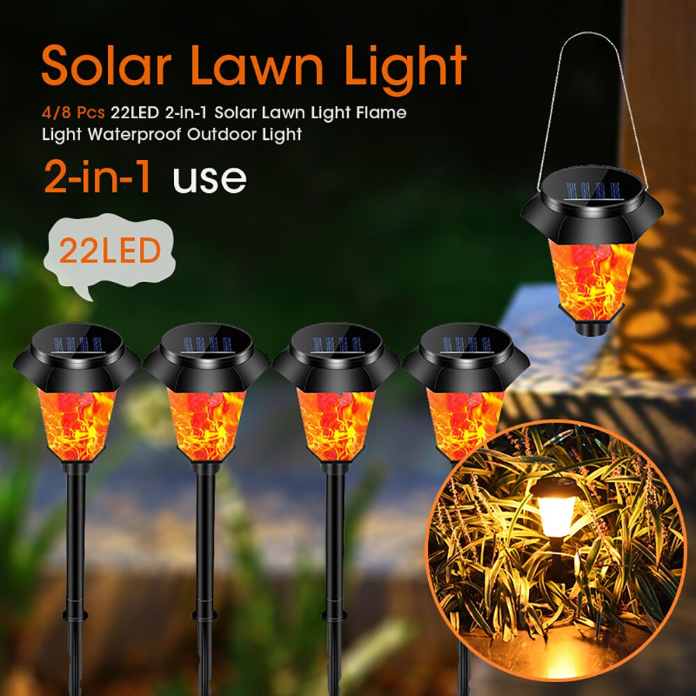 Waterproof 2-in-1 Solar Lawn Lamp